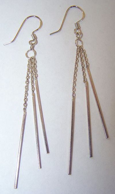 fashion jewellery pls -         E 79 STERLING SILVER EARRINGS