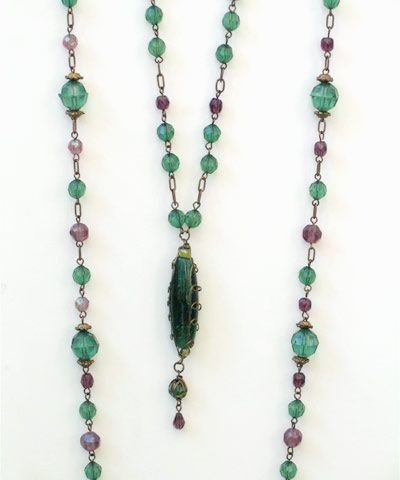 Bulk buy 12 green drop necklaces these beautiful two strand necklaces