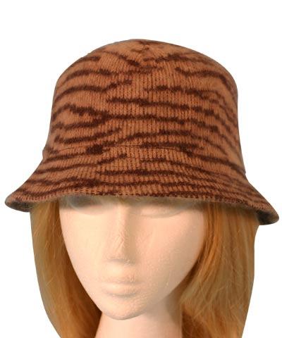 Angora Animal print hat