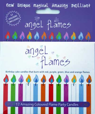 Angel flames birthday candles