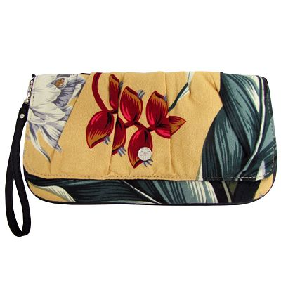 escape to paradise - SANDY BAY FABRIC - CAPRI CLUTCH