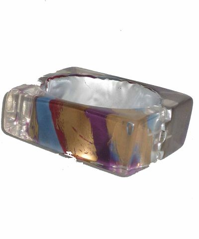 Acrylic Square Bracelet with Hinge