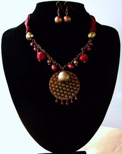 fashion jewellery pls -      QN 081 NECKLACE AND EARRING SET