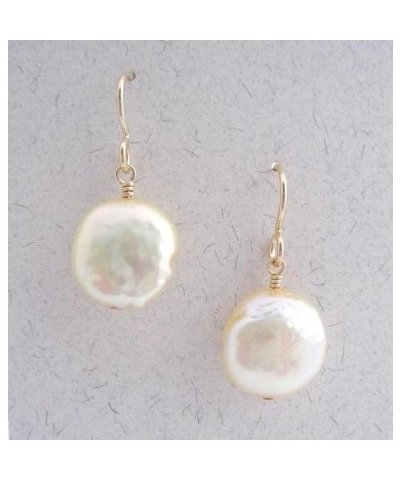 Aimend Coin Pearl Earrings