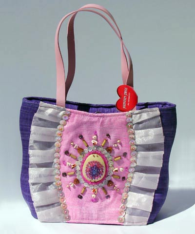 josephine's jewels - PURPLE AND PINK BUCKET BAG 198-03