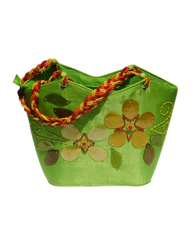 josephine's jewels - LARGE GREEN BAG 033-03