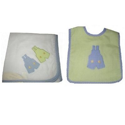Alimrose Overalls Wrap and Bib Set