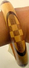 Click to Enlarge - snazzy jazzy - WOODEN MOSAIC BANGLE