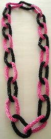 Click to Enlarge - snazzy jazzy - PINK 'N' BLACK NECKLACE