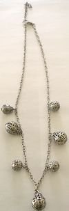 Click to Enlarge - snazzy jazzy - SILVER CHIMES NECKLACE