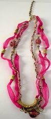 Click to Enlarge - snazzy jazzy - PINK RIBBON NECKLACE