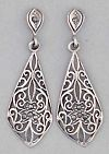 Click to Enlarge - fashion jewellery pls -           E 006 STERLING/S MARCASITE
