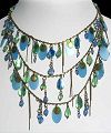 Click to Enlarge - sondaria  - OCEAN WHISPERS NECKLACE BLUE & GREEN
