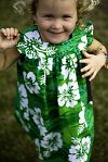 Click to Enlarge - black eyed green - HIBISCUS DRESS